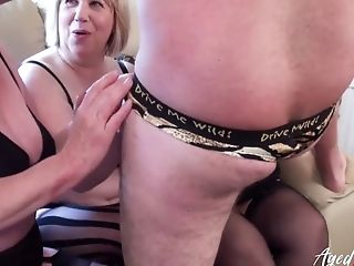 Three Matures Ladies Occupying One Man Rod