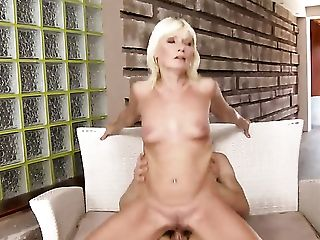 Blonde Finds Him Sexy And Takes His Hard Pole In The Bum Slot