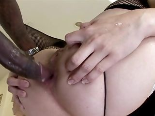 Bobbi Starr Lets Big Black Cock Drill Her Asshole