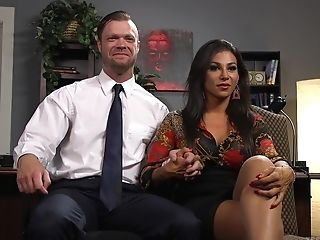 Horny Dude Gets His Caboose Packed With Jaquelin Braxton's Dick In The Office
