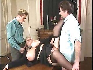 Bbw Blonde Cougar With Big Titties Fucked