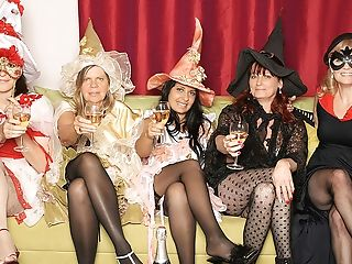 Its A Steaming Old And Youthfull Girl/girl Halloween Soiree