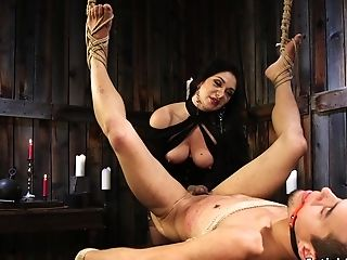 Dude Gets Beef Whistle Zippered By Mistress