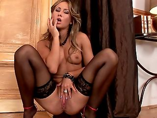 Euro Hooker Carmen Taking Off Her Stockings