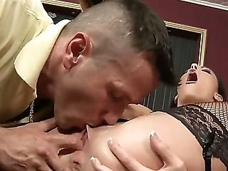 Look At Dazzling Hot Dark Haired Chick Aliz Sucking Stick And Eating Nutsack Assiduously