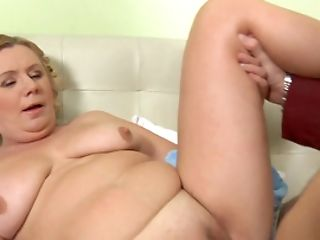 A Fat Blonde Granny Liquidates Her Undies And She Jiggles Her Booty