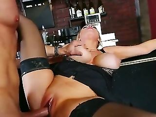 Big Titted Cutie Katie Kox Luvs Railing On Her Mans Lengthy Stiff Meatpipe On A Bar Counter