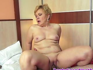 Chubby Grand-ma Rails Dick In The Bedroom