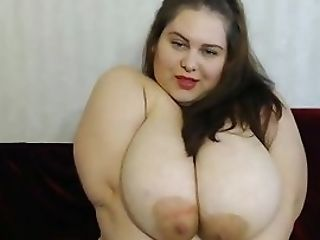 Big Fat Honey Have Fun With Meaty Orbs And Masturbating With Big Beaver