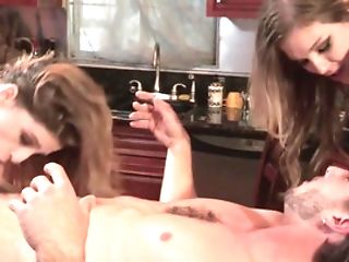 Two Gals With Hot Arses Are Making A Hot Threesome