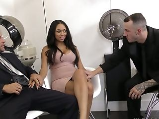 Two Hot Blooded Dudes Fuck One Bitchy Chick Bethany Benz
