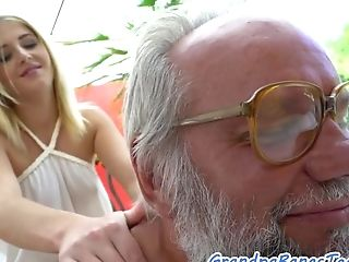 Euro 18yo Masseuse Fucked By Grandfather