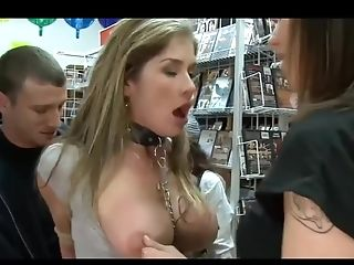 Super-bitch Mommy Gets Used In Adult Store