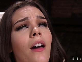 Brown-haired Beauty Fucks Prompt Machine