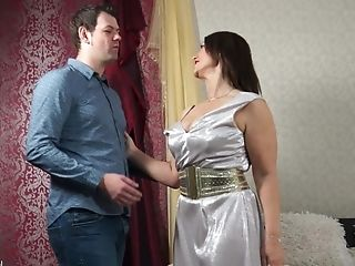 Matures Dark Haired Mummy Christine O. Force Fed Lollipop And Fucked Rear End