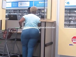 Yam-sized Meaty Booty Blue Jeans Granny