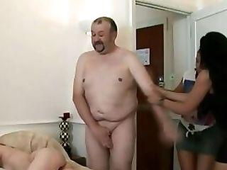 Old Fatso Gets A Tugjob
